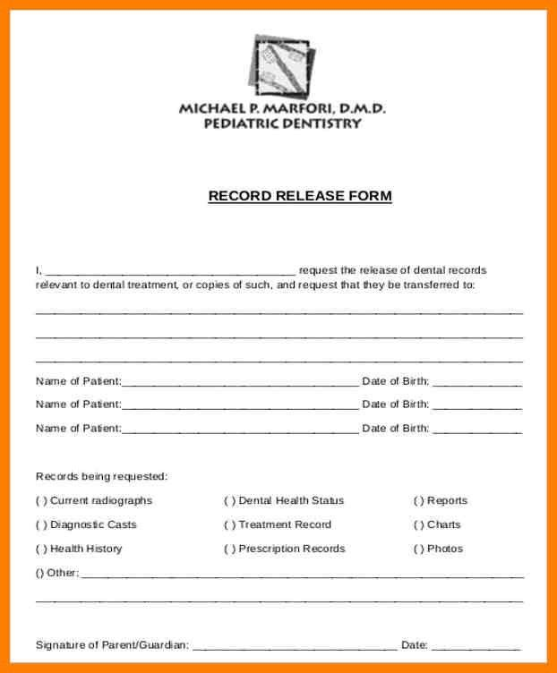 Dental Records Release Form. Insurance Billing & Payment Processes ...
