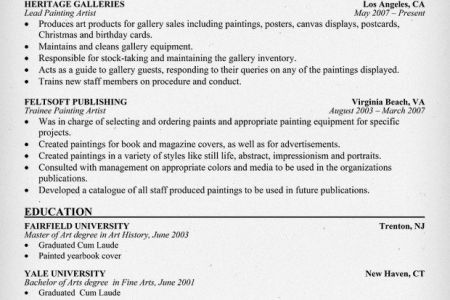 painter resumes sample resume professional work experience ...