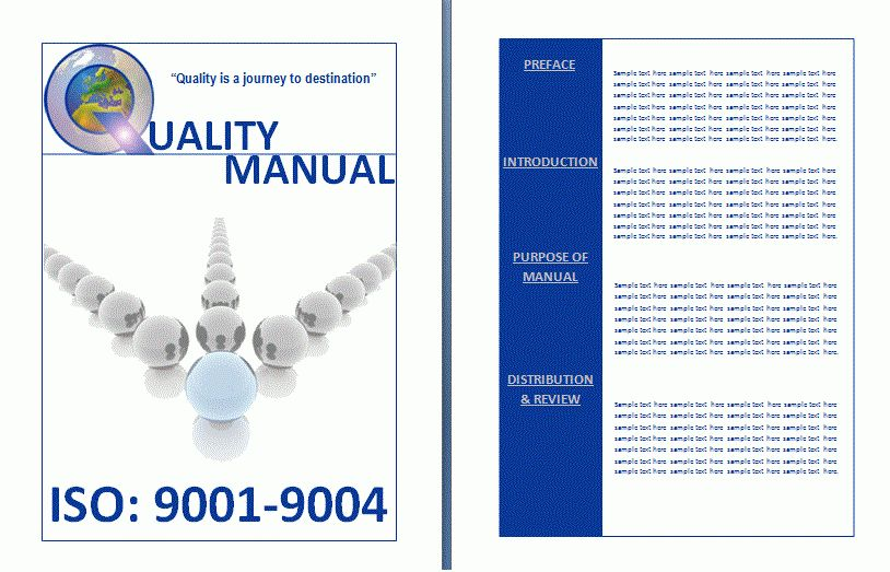 Quality Manual Template | Formsword: Word Templates & Sample Forms