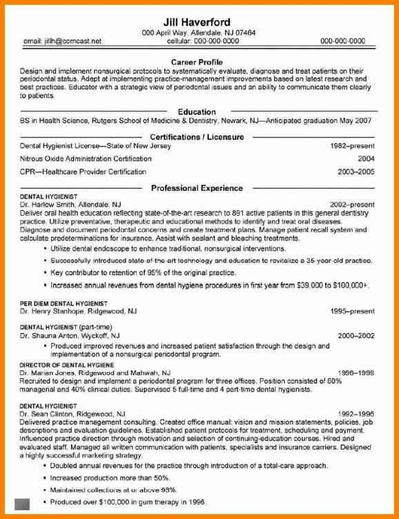 Dental Hygiene Resume Examples, 5+ experienced dental hygienist ...