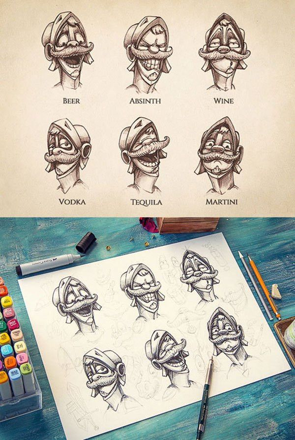Inspiring Examples of Character Design & Sketching by Mike