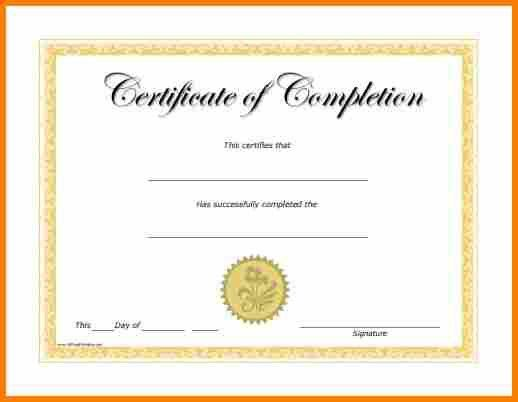6+ certificate of completion template free printable | resume ...