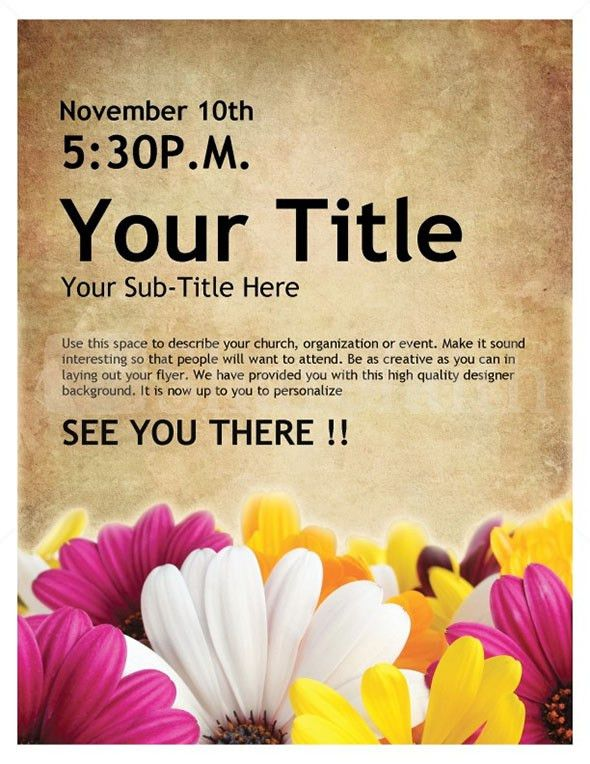 6+ Event Flyer Templates - Word Excel PDF Templates