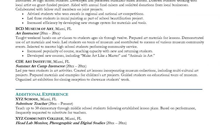 elementary school teacher resume example. sample career objectives ...