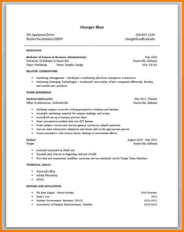 Resume With No Work Experience – Resume Examples
