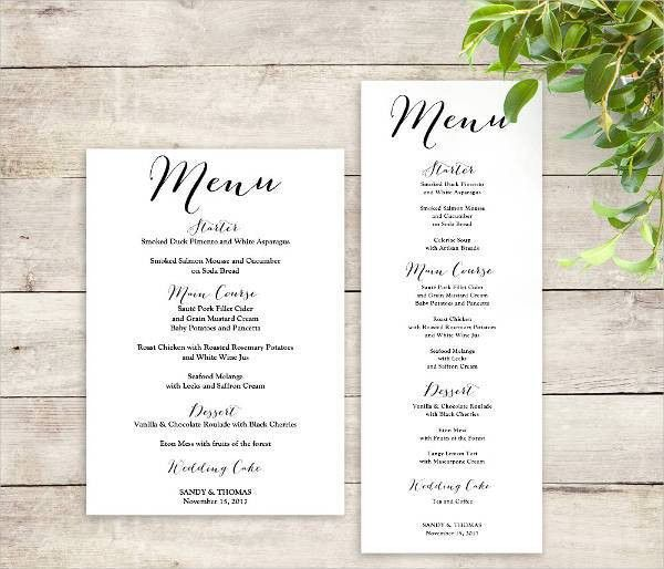 Printable Menu Template - 9+ Free PSD, Vector AI, EPS Format ...