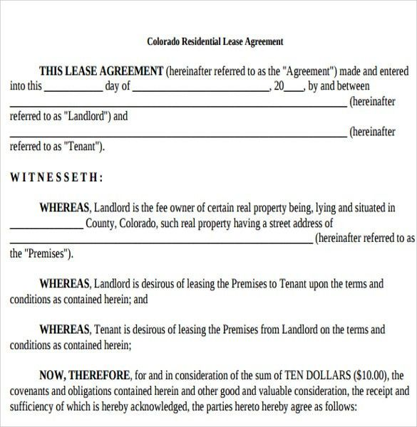 Tenant Lease Agreement Samples , Examples & Format - 6+Download ...