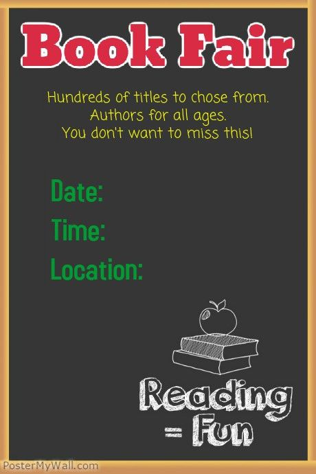 School Book Fair Reading is Fun Poster template | PosterMyWall