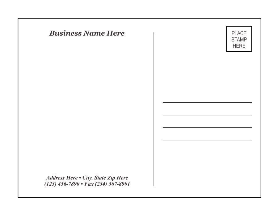 Business Postcards Templates - Contegri.com