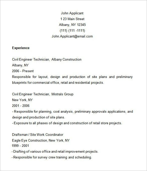 Resume Template Examples. Mechanical Engineering Resume Examples ...