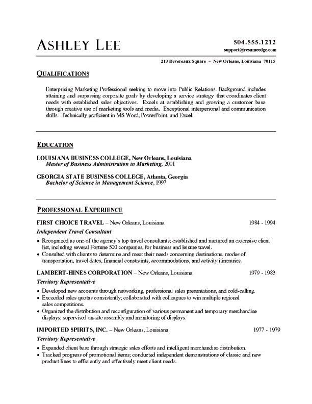 Professional Resume Samples In Word Format | Free Resumes Tips