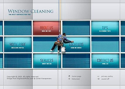Window Cleaning flash website template | Best Website Templates