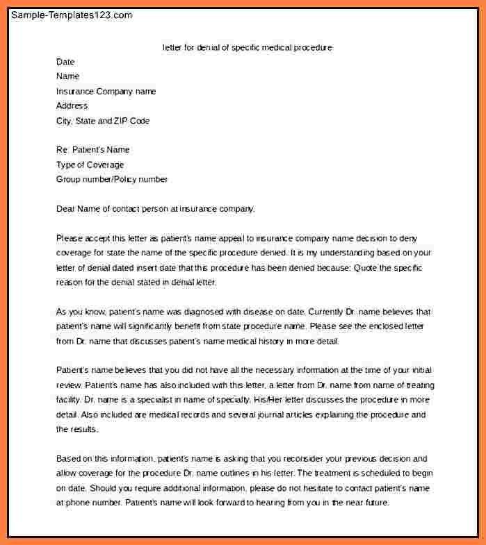 4+ medical appeal letter sample | Appeal Letter 2017