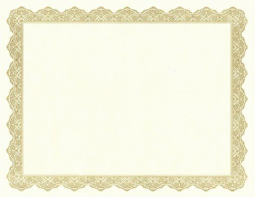 Golden Border Certificate Templates | Blank Certificates