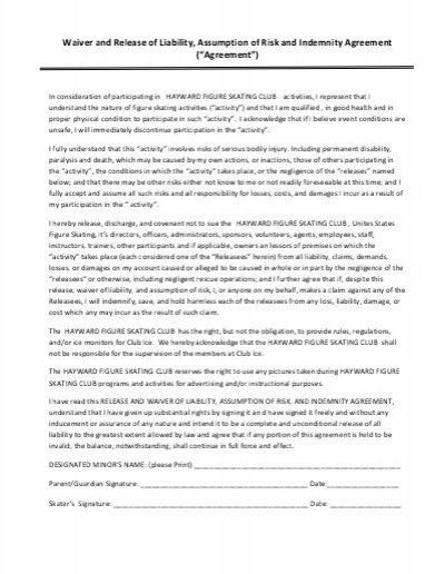 Indemnity Agreement Template. Valet Parking Agreement Template ...