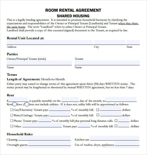 Sample Rental Agreement Template - 8+ Free Documents Download in ...