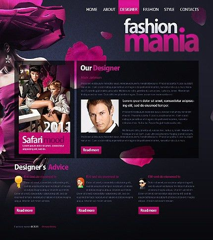 Clothing Website Templates | Template Design