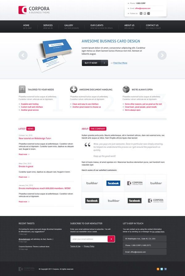 36 High Quality Templates & Tutorials To Design Business Website ...