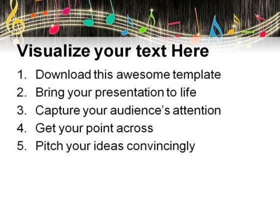 Music Notes Background Entertainment PowerPoint Themes And ...