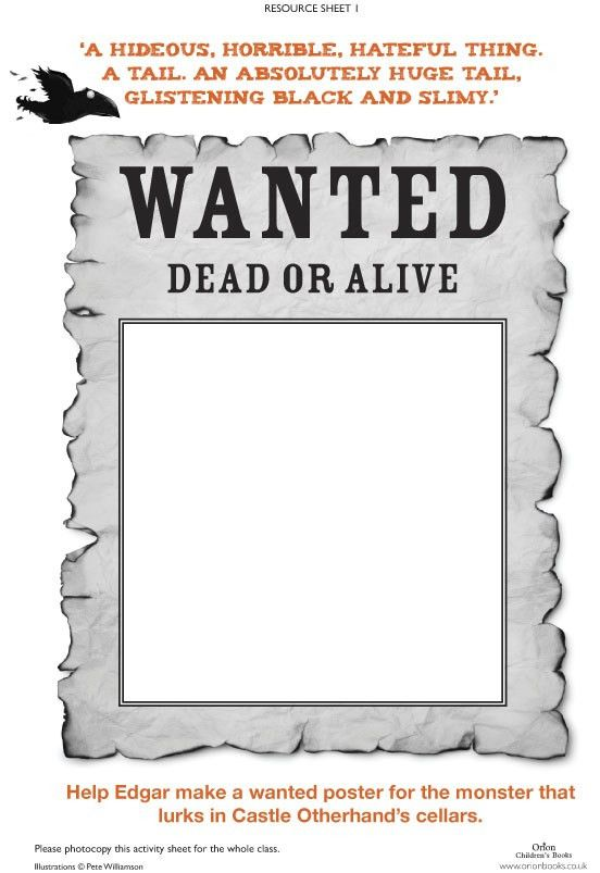Raven Mysteries Wanted Poster - Scholastic Kids' Club