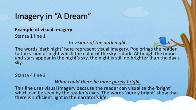"Diction and Imagery in Edgar Allan Poe's ""A Dream"""