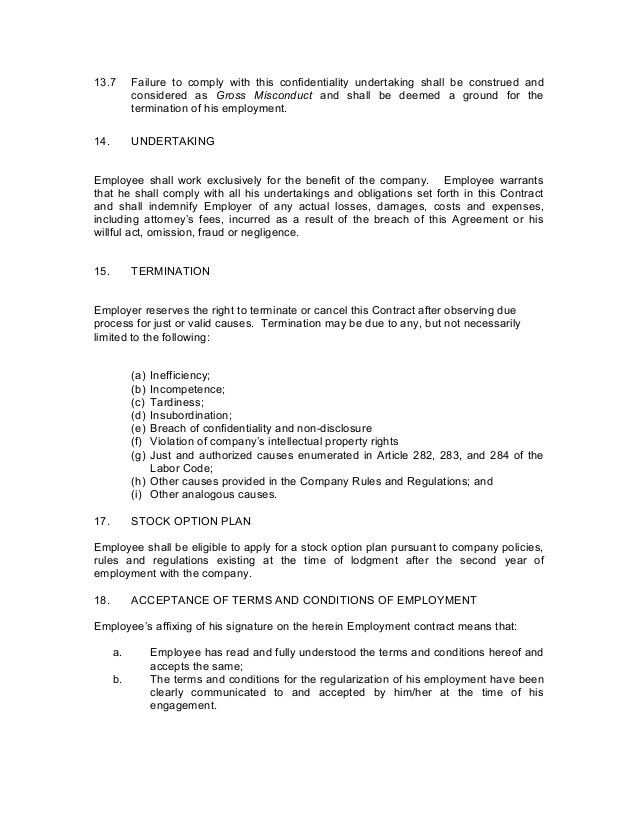 Contract of-employment probationary employee