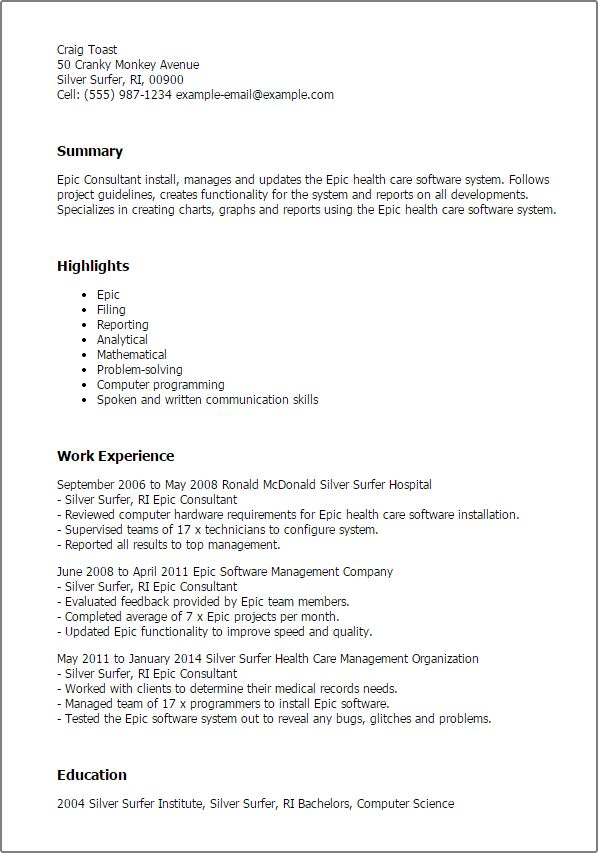 Professional Epic Consultant Templates to Showcase Your Talent ...