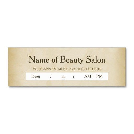 Simple Gold Grunge Hair Salon Appointment Reminder Business Card ...