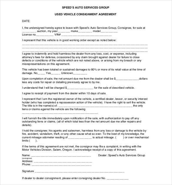 Consignment Agreement Template Download From Accounting And 58 ...