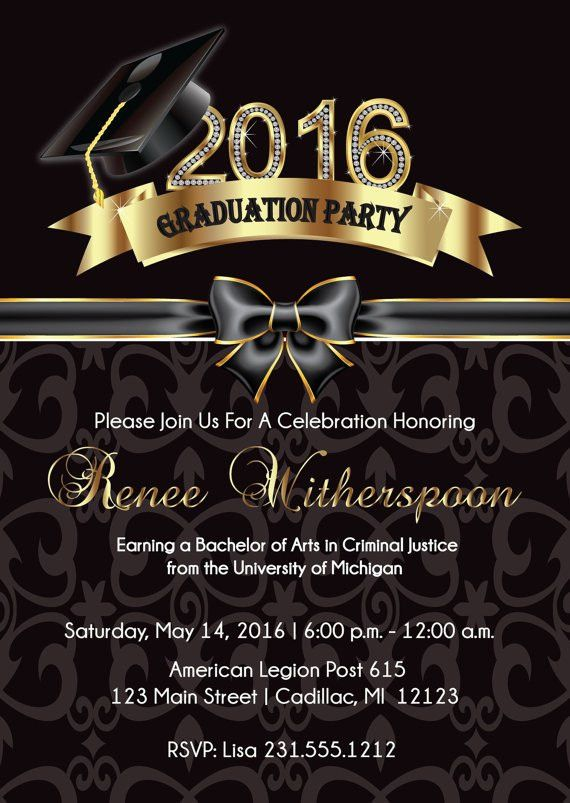 Graduate Invites: Appealing Elegant Graduation Invitations Design ...