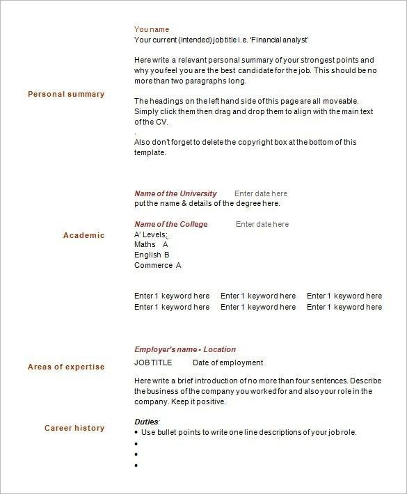 1 Page Resume Sample - Best Resume Collection