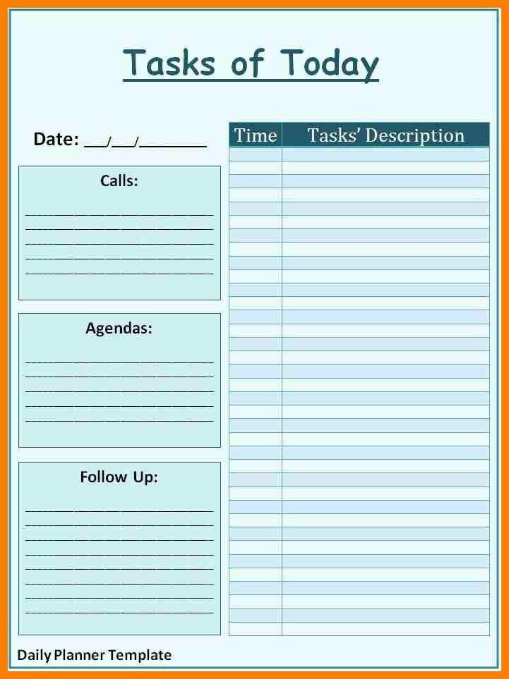 7+ free daily planner template | lease template