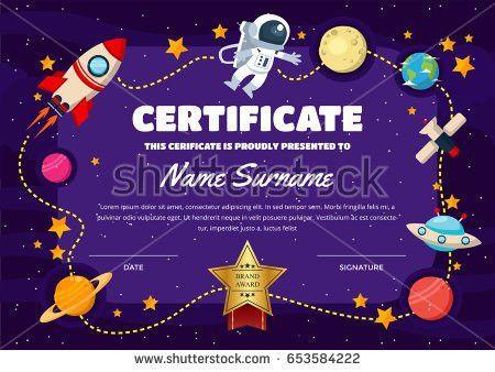 Cute Children Certificate Achievement Appreciation Template Stock ...