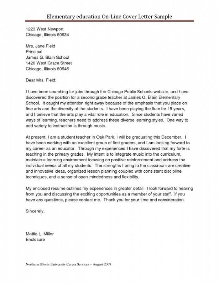 Cover Letter Art Teacher
