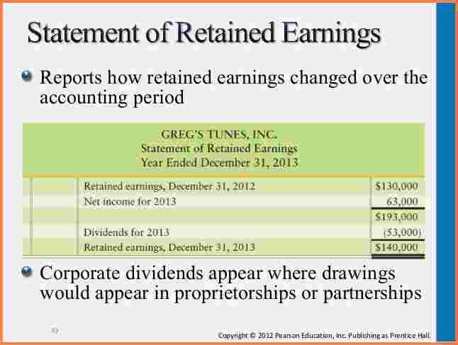 5+ statement of retained earnings | Registration Statement 2017