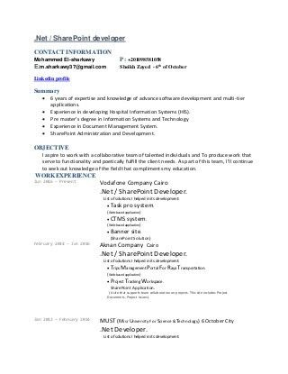 Awesome To Do Sharepoint Developer Resume 8 Business Developer ...