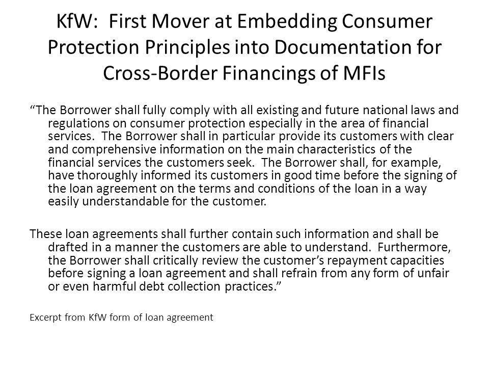 Responsible Finance: Embedding Consumer Protection Principles into ...