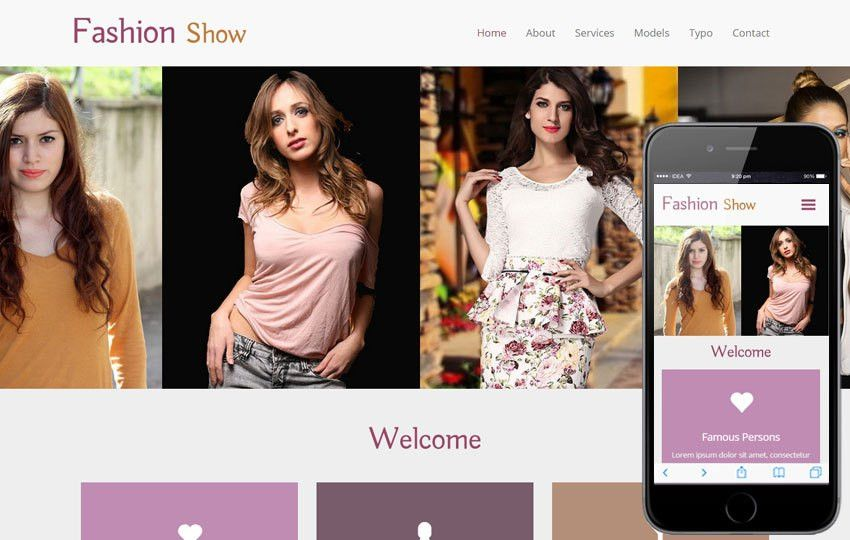 Fashion Show a Fashion Category Flat Bootstrap Responsive Web ...