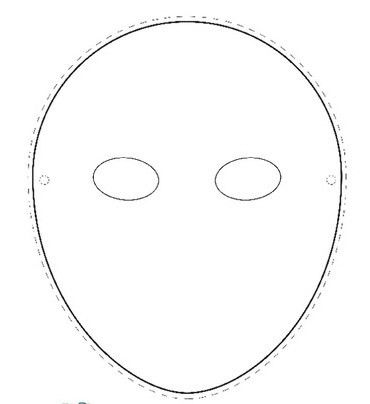 Mask Template Round Face.jpg 370×404 pixels | crafts around the ...