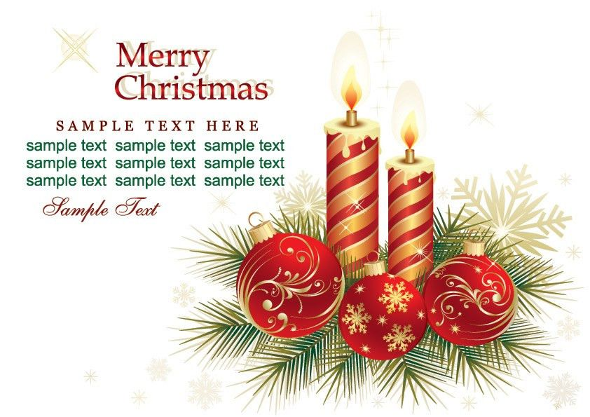 Beautiful christmas greeting card background vector Free Vector ...