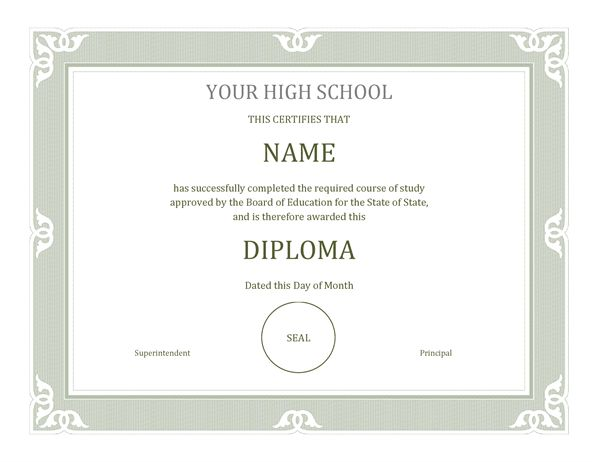 Diploma certificate - Office Templates