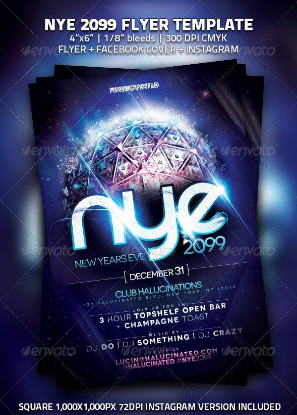 New Year Poster Template. Free Happy New Year Flyer Download Free ...