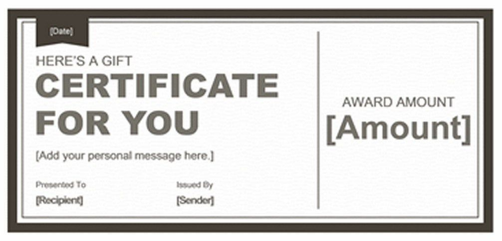 Blank Gift Certificate Template | Business Plan Template