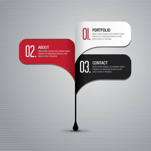 Business Infographics Steps Layout Design Template | 123Freevectors