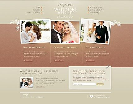 Wedding Web Templates | Wedding Templates