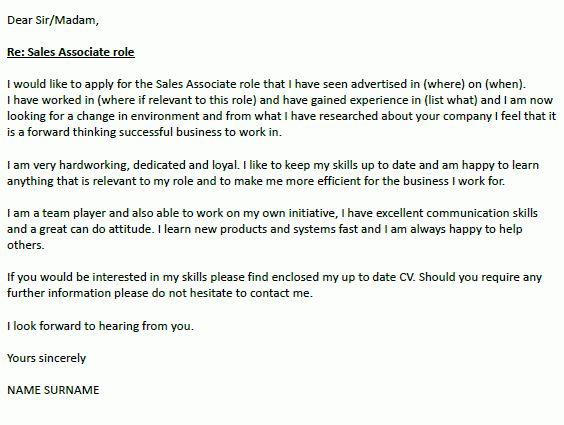 sales associate cover letter sales associate resume sample. 13 ...