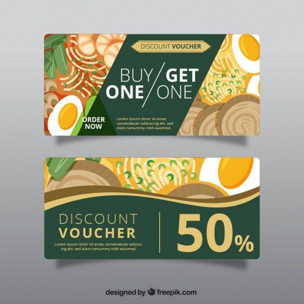 Green discount voucher for restaurant Vector | Free Download