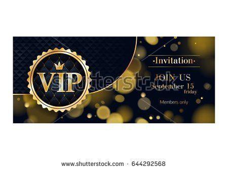 Vip Club Party Premium Invitation Card Stock Vector 442968937 ...