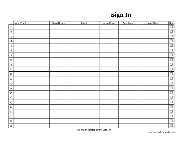 Doc.#680730: E Mail Sign Up Sheet – 28 Sign Up Sheets Free Word ...