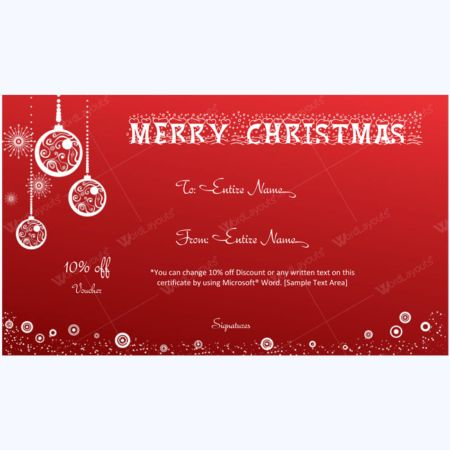 Merry Christmas and Happy New Year Card Template - Word Layouts
